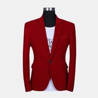 Wholesale blazer male slim fashion quality red velvet suit casual blazer