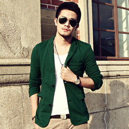 Dark Green Blazer Men | Fashion Ql