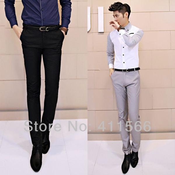 Discount Korean Men's Slim Fitting Suit Pants | 2017 Korean Men's ...