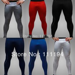 2017 capas base Los pantalones de gimnasia Capa Base de compresión mayor-Libre de envío de los nuevos hombres apretado bajo la piel Sports Gear 6 colores 5102 capas base Rebaja