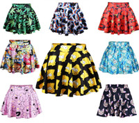 australian army - vintage skater skirt Australian design Black Milk cartoon print above knee skirts womens