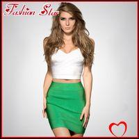 aq free - Women Candy Color Step Skirt Lady Slim A line Mini Hip Elastic Short Derss Woman Bust Underdress FS AQ