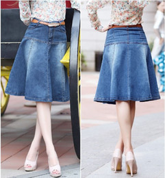Plus Size Jean Skirts Online   Plus Size Long Jean Skirts for Sale