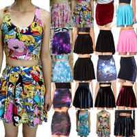 adventure clothing brands - Saias femininas Women Mini Skirt Brand Summer Adventure Time Galaxy Skater Print Skirt Party Fashion Skirts Women Clothing
