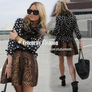 2017 Wholesale Sk02 Celebrity Style Women Animal Leopard Print A ...