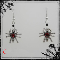 Wholesale Goth Blood Red Spider Earrings Gothic Emo Earring