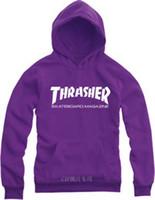 Cheap Wholesale-2015 New Autumn and Winter Street Skateboard Thrasher Hoodies Sweatshirts Thick Fleece Hoodies