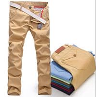 Wholesale thermal New High Quality brand trousers cotton straight Casual Mens pants khaki black color skinny joggers Cargo pants