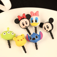 kpop - cute cartoon model Mickey anti dust plug for cell phone iphone xiaomi kpop kawaii ear jack earphone cap
