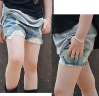 baby nz - NZ Hot selling children shorts fashion girl lace denim short pants summer baby jeans Retail