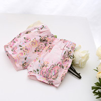 Wholesale Summer New Fashion Children Clothing Girls Shorts Child Cotton Baby Girl Floral Printed Shorts Elastic Waist Casual Shorts