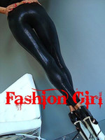 pvc snake leather - Gothic Punk Sexy Women Footless Faux Leather PVC Snake Skin Metallic Leggings Capris Skinny Shiny Disco Dance Hot Pants