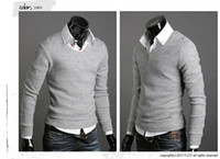 Wholesale Slim Fit Mens Black Cardigan - Wholesale-new pullover mens sweaters brand fashion slim fit cotton blusas masculinas sueter man sweater cardigan masculino casual shirt