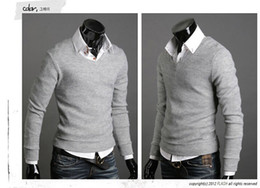 Wholesale-new pullover mens sweaters brand fashion slim fit cotton blusas masculinas sueter man sweater cardigan masculino casual shirt