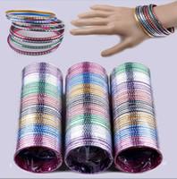 aluminum bulk - Mix Set Indian Dance Cuff Bangle Aluminum Bracelets Bulks
