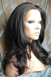 """XCSUNNY 16""""-22"""" Body Wave #1B Glueless Lace Front Human Hair Wigs"""