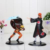 naruto - Naruto Uzumaki Naruto VS Pain PVC Action Figure Collectible Model Toys Dolls set