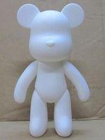 Wholesale 7 inch DIY ferrite Meme Bear Vinyl White mold White momo Bear hand painting platform toys h