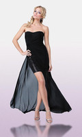 A-Line 2011 prom - 2011 Prom A Line Strapless Hi Lo Chiffon Cocktail Homecoming Dresses