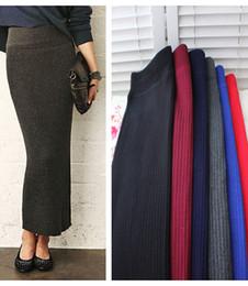 Discount Black Knit Maxi Skirt | 2017 Black Knit Maxi Skirt on ...