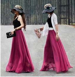 Discount Pleated Full Length Chiffon Maxi Skirt | 2017 Pleated ...