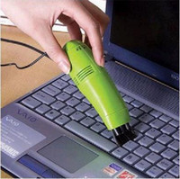 Wholesale NEW USB Mini Keyboard Vacuum Cleaner for PC Computer Laptop Clamshell packaging