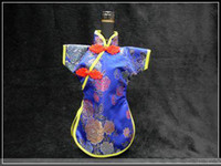 Wholesale Promotional Wine Bags Eco Silk Fabric Wedding Home Decorations mix color