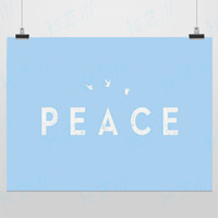 motivational posters - Peace Blue Modern Motivational Quotes Typography Original A4 Hipster Poster Print Minimalist Canvas Painting Wall Art Decor Gift