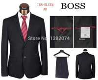 Wholesale Top Designed Fashion Business Men Suits Famous Brand Woolen PC Casual One Button Dress Suits for Men