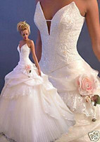Wholesale Hot Sell Sexy Ball Gown Cathedral Wedding Dresses Bridal Dress Gowns NO