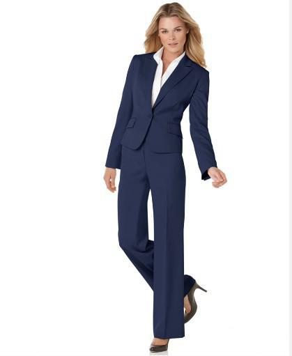 2017 Navy Women Suit Custom Made Suits Womens Suits Designer ...