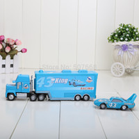 Wholesale set Pixar Cars alloy amp plastic disoco small king toy cars plastic truck toy car