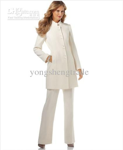 2017 Ivory Women'S Suits Business Suits Ladies Suits Custom Made ...