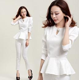 Wholesale Piece Set Women Elegant Pants Suits Ladies Business Pant Suits Formal Office Suits Work Black Pink White