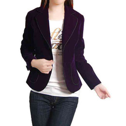 Wholesale Spring loaded suit slim purple velvet little black twobutton suit jacket coat suit
