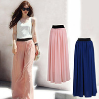 amazing retail sale - Retail New Fashion Amazing Chiffon Long Maxi Skirt Hot Sales Bohemian Princess Skirt High Quality Welcome Drop Shipping