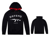 Wholesale Plus size s m l xl xxl fashion hip hop casual man amp women Defend Paris hoodie sweatshirt