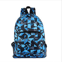 nylon waterproof zipper - accessories casual folding convenient delicate double zipper multicolor scrawl waterproof nylon backpack school bag unisex