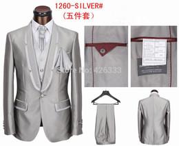 Trajes de la astilla en venta-Al por mayor-vendedora superior del vestido de partido del envío libre de juegos de la boda traje de la moda masculina astilla negro púrpura cinco piezas S-4XL