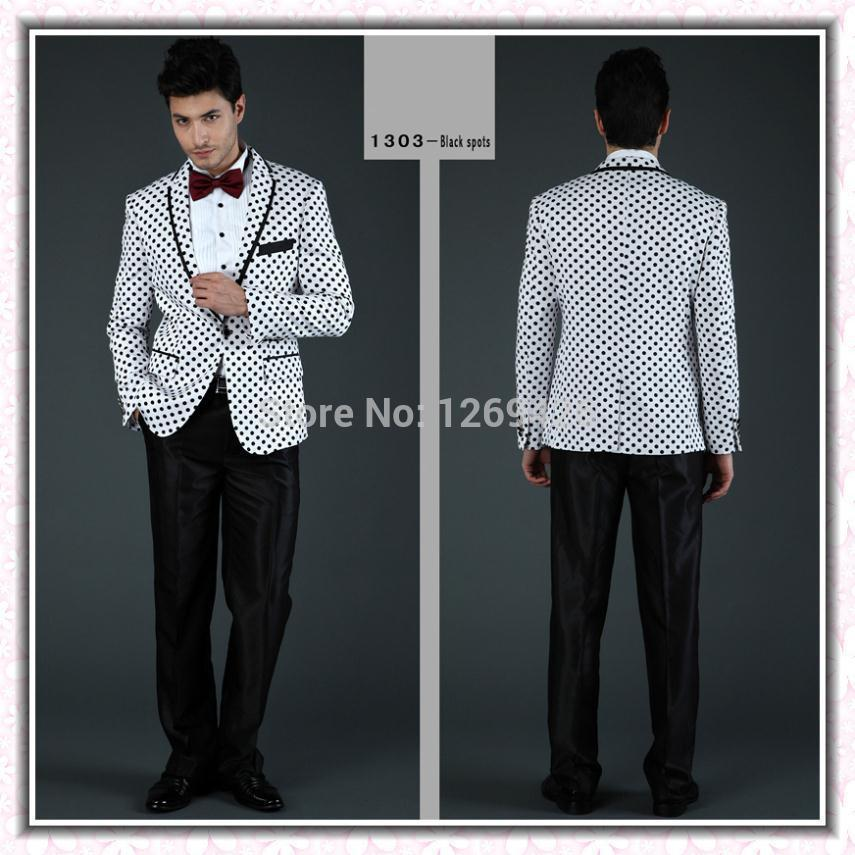 Wholesale-New Style Fashion Formal Suit For Men White And Black ...