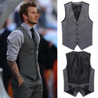 beckham for sale - Hot Sale Korean Slim Fit Beckham Style Suit Vest For Man Casual Patchwork Mans waistcoat