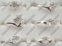 Wholesale Silver Jewerly China - Rings Jewelry Fashion Ring Mixed Lots 50pcs Beautiful 925 Silver Plated Rings Women CHarm jewerly Free [SI27*50]