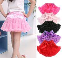Wholesale Girls Multi List Solid Color Pettiskirt Bow knot Skirt Girls Dance Tutu Skirt amp drop shipping
