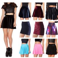american apparel velvet - American apparel skater skirt winter short skirt velvet black skirts female womens causal pleated