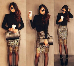 Discount Gold Lace Pencil Skirt | 2017 Gold Lace Pencil Skirt on ...
