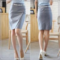 Cheap Wholesale-Suit skirt new 2015 women summer slim short tailored bandage skirts female saias midi pencil skirt saia