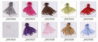 Wholesale Wedding Gift Gifts Favors Pure Color Cashmere like Acrylic Yarns Scarves Scarf CM