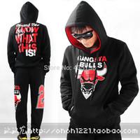 chicago bull - West men s hoodies bull clothing hiphop skateboard hoody sweatshirt hip hop sweatshirt bulls chicago