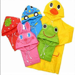 Wholesale High quality LINDA LINDA Cartoon animal shaped children s raincoat Children s Poncho