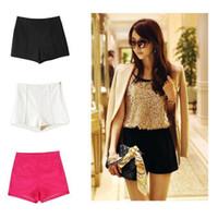 high waisted shorts - Fashion Womens Ladies Side ZIP High Waisted Shorts HOT Pants Free shiipping